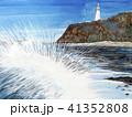 潮岬灯台 灯台 波 太平洋 41352808