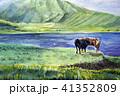 牧場 阿蘇山 牛 放牧 草千里 41352809