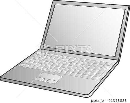 ノートパソコン・モノトーン(laptop-PC)ベクター 41353883