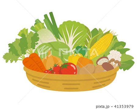 かごに盛られた野菜 41353979