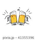 ビール イラスト 乾杯 41355396