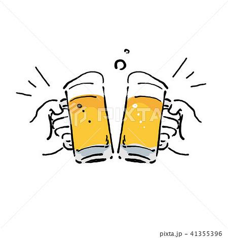 ビール イラスト 乾杯のイラスト素材 41355396 Pixta