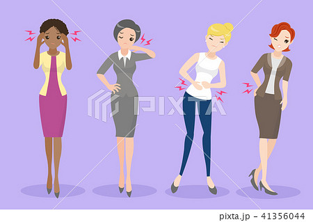 cartoon woman with health problem 41356044