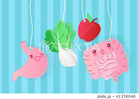 cartoon intestine and stomach 41356046