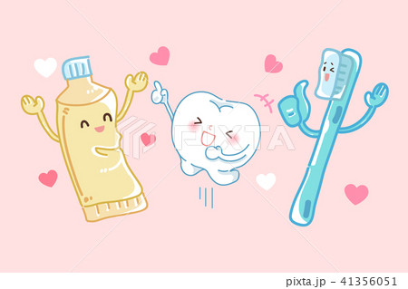 cartoon tooth dental care 41356051