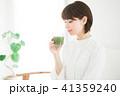 女性 スムージー 野菜ジュースの写真 41359240