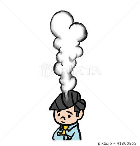 頭から煙のイラスト素材 41360855 Pixta