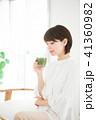 女性 スムージー 野菜ジュースの写真 41360982