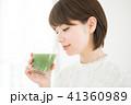 女性 スムージー 野菜ジュースの写真 41360989