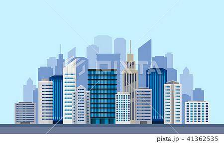 都会ビルのイラスト素材 41362535 Pixta