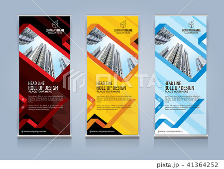 Roll Up Banner template design vector illustration 41364252