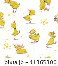 鳥 柄 花のイラスト 41365300