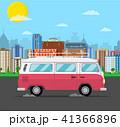 車 自動車 レトロのイラスト 41366896