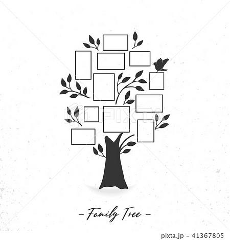 family tree with photo framesのイラスト素材 41367805 pixta