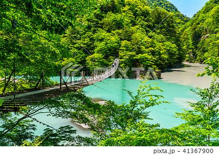 【静岡県】新緑の寸又峡 夢の吊り橋 41367900