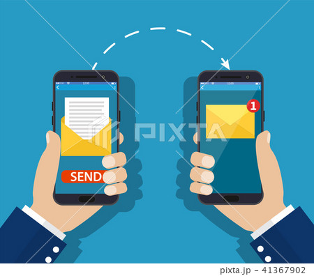 Sending message process concept. 41367902