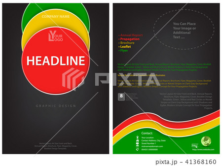 flyer template with colored circlesのイラスト素材 41368160 pixta