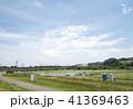 多摩川橋梁を渡る武蔵野線の貨物列車(東京都府中市・稲城市) 41369463
