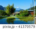 風景 晴れ 富士山の写真 41370579