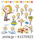 女性 外国人 食事のイラスト 41370923