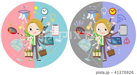 blond hair business women_mulch task switch 41370926