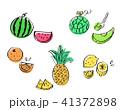 果物 フルーツ カットフルーツのイラスト 41372898