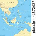 東南アジア マップ ベクトルのイラスト 41372927