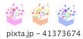 箱と花 3色 41373674