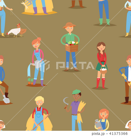 Farmer vector people workers character agriculture person profession farming life illustration woman 41375366