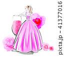 薔薇のカクテルとドレス 41377016