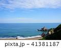 海 初夏 岩の写真 41381187