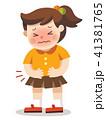 子供 腹部 腹痛のイラスト 41381765
