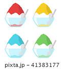 かき氷 デザート バリエーションのイラスト 41383177