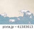 青海波 波 水しぶき 和紙 41383613