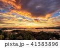 長崎 雲 夕日の写真 41383896