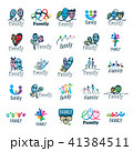 ロゴ ファミリー 家庭のイラスト 41384511