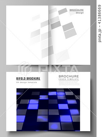 the vector of the two editable layout a4 format cover design