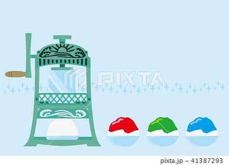 シンプルなかき氷機とかき氷のイラストのイラスト素材 41387293 Pixta