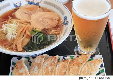 ラーメン 餃子 ビール 41388150