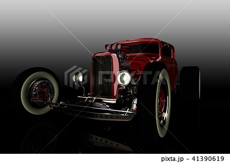 Hot Rod 3D render 41390619