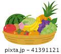かごに盛られた果物 41391121