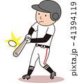 野球 バッティング ベクターのイラスト 41394119