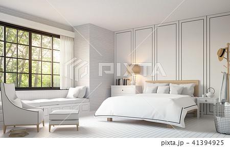 Modern vintage bedroom 3d render 41394925