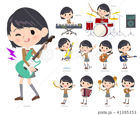 school girl Brown Blazer_pop music 41395353