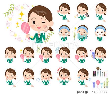 school girl Green Blazer_beauty 41395355