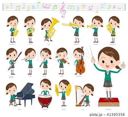 school girl Green Blazer_classic music 41395356