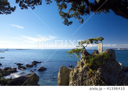 冬の森戸海岸  自然風景 41396410
