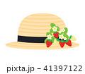 麦わら帽子 帽子 イチゴのイラスト 41397122