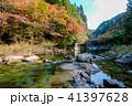 秋 紅葉 川の写真 41397628