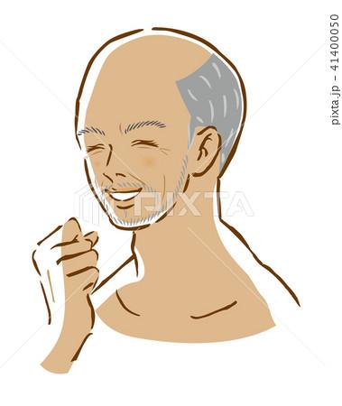 男性 日焼け 笑顔 はげる 白髪 41400050